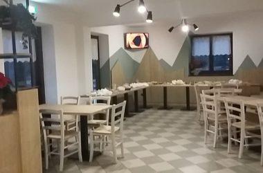 Sala pranzo Ostello Casa Corti Valbondione